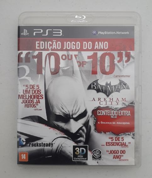 Jogo Batman Arkham City Ps3 - Midia Fisica - Português