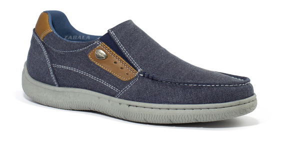 Zapatos Hombre Nauticos Cavatini Super Confort Pancha Tela