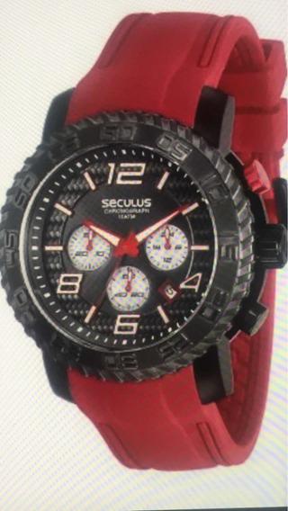Relógio Masculino Seculus Super Sport Modelo Piloto 10 Atm