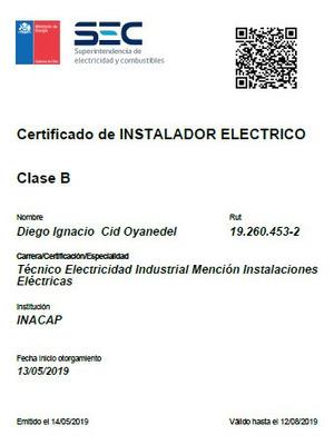 Instalador Eléctrico. Clase B (sec)