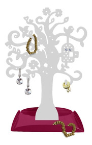 Porta Joias Decorativo Organizador Biju Brinco Em Aço Árvore