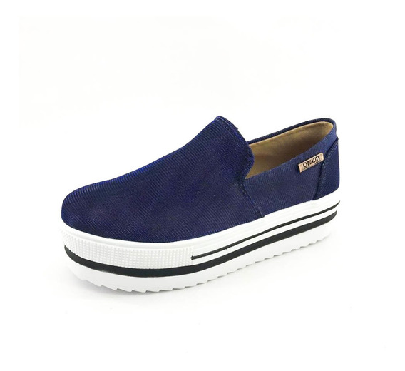 Tênis Quality Shoes Flatform Feminino Multicolor Azul