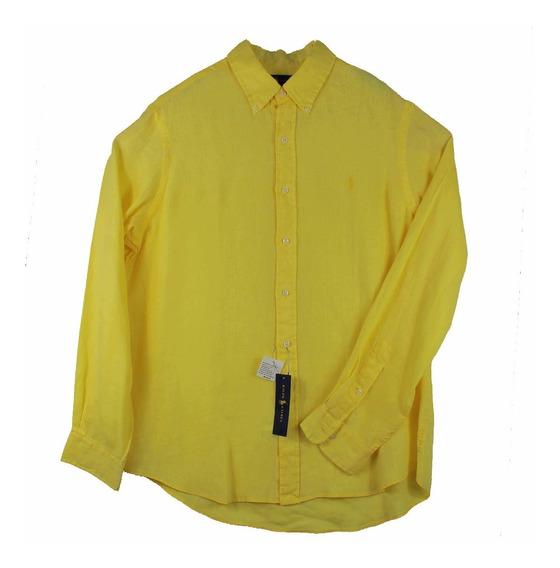 Camisa Ralph Lauren De Lino Para Hombre Talla L