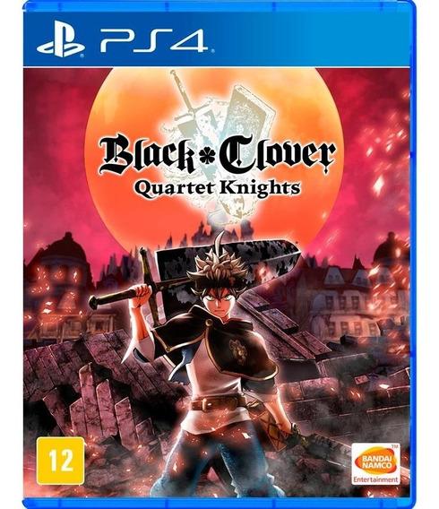 Jogo Novo Midia Fisica Black Clover Quartet Knights Para Ps4
