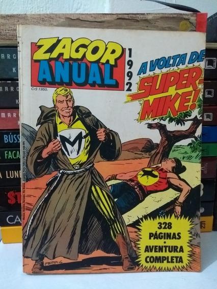 Zagor Anual 1992 - A Volta Do Supermike (frete Grátis)