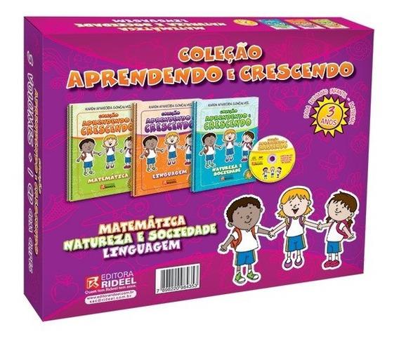 Coleção Pedagógica Aprendendo E Crescendo + Brinde