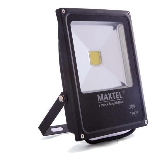 Kit 03 Refletor Led 30w Holofote Maxtel Verde Bivolt Ip66