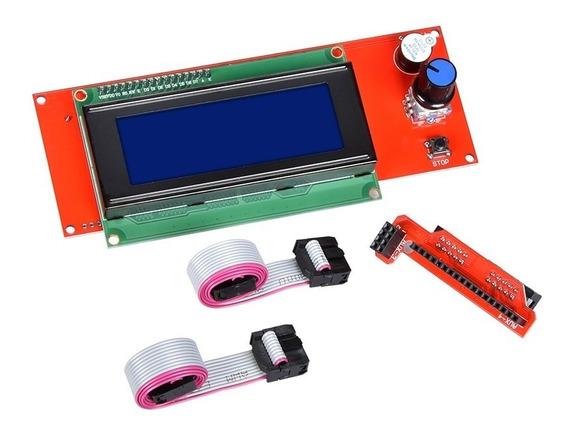 Display Controladora Lcd 20x4 Painel De Impressora 3d Ramps