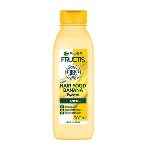 Imagen 1 de 1 de Shampoo  Garnier Fructis Hair Food Banana Fuerza tubo depresible 300ml