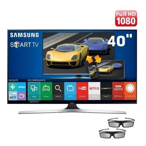 Tv Led 3d Samsung 40 Un40f6400 Smart Tv / Full Hd / Convers