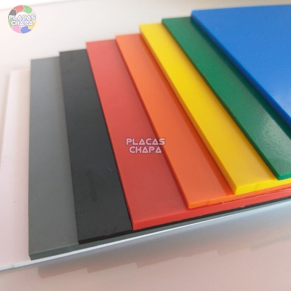 Chapa Placa Ps Ai Poliestireno Color 1mm X 100cm X 50cm