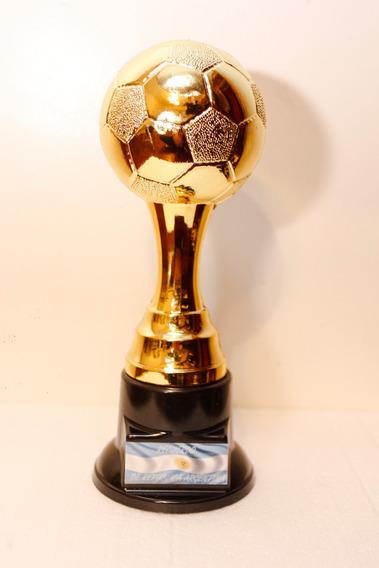 Trofeo Futbol Balon De Oro -28cm Sin Jug -37 Cm Con Jugador