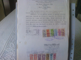 22 - Documento Com Selos De Fiscais Do Brasil