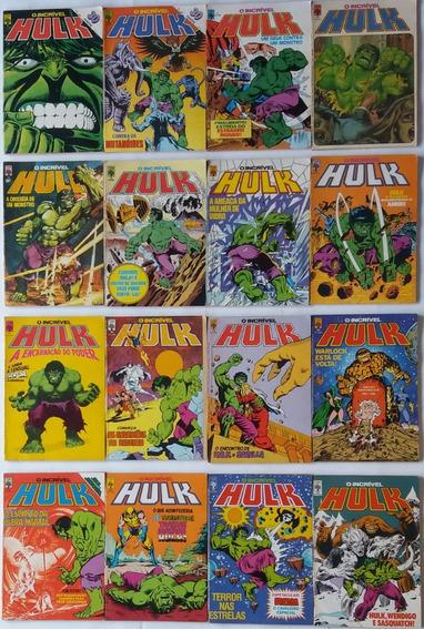 Incrível Hulk 1983 Abril Lote Com 34 Hq´s Gibi Raridade