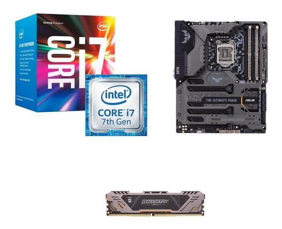 Kit Upgrade Asus Tuf Z270+ Processador I7 7700+ Memoria 8gb