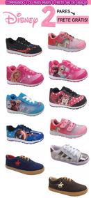 Tênis Infantil Unissex Frozen Barbie Minnie Pólo Ladybug