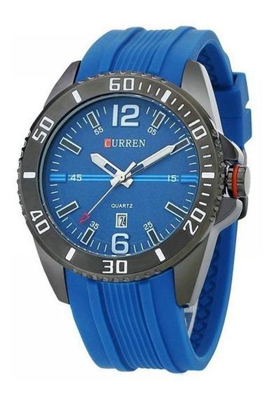 Relógio Masculino Curren Analógico Casual 8178 Azul