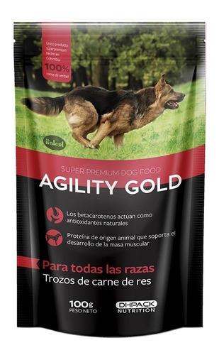 Agility Gold Trozos De Carne De Res 100gr