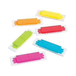Armónicas De Plástico Paquete De 12 3 Pulgadas Colores Sur