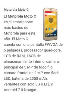 Teléfono Motorola Moto C 16gb Nuevo