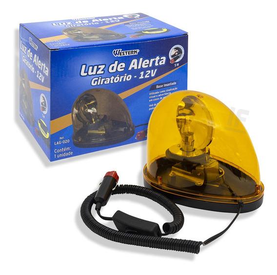Luz De Emergência Alerta Giratório Com 12 Leds Giroflex 12v