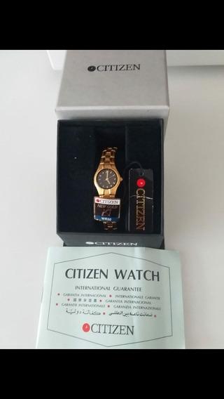 Reloj Original Citizen Dorado, Eco Drive Wr50