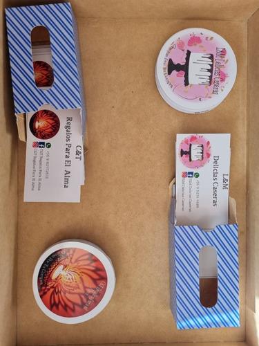 Imagen 1 de 3 de Sticker Cortados 120 Unidades 6x6 + 100 Tarjetas De Gracias