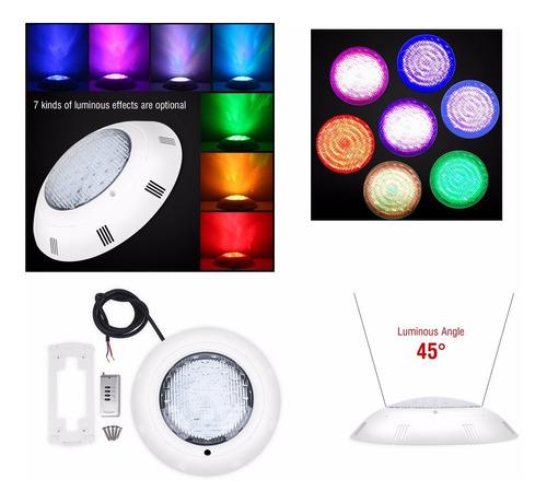 Luz De Piscina 18w Lámpara Subacuática Led De Varios Colores