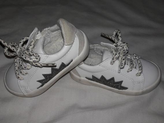 Zapatillas Zara Impecables N° 19 Cuero Y Twitter Niñas