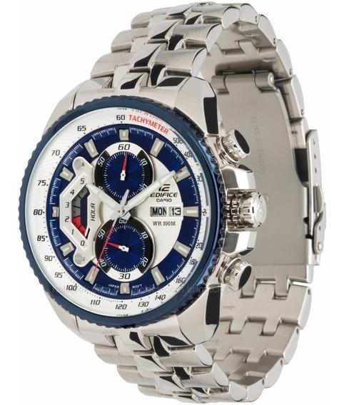 Relógio Hx020b Casio Edifice Ef558d Branco Puls. Aço Inox