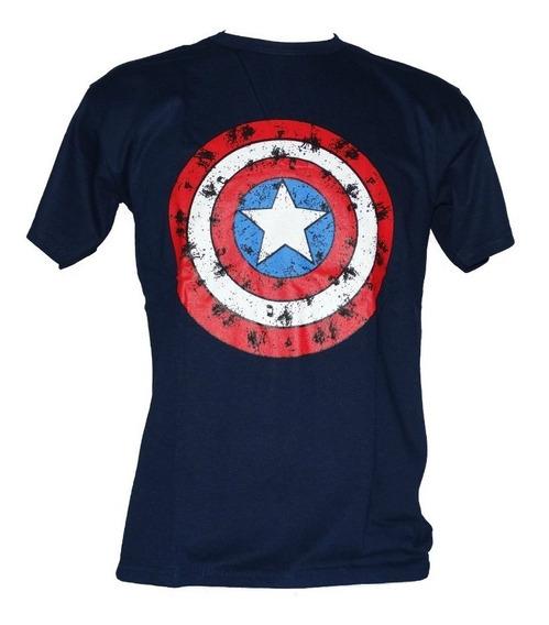 Camisa Camiseta Adulto Capitão América Super Heróis P/entreg