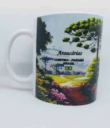 Caneca Lembrança De Curitiba - Árvores De Araucária - #2 -