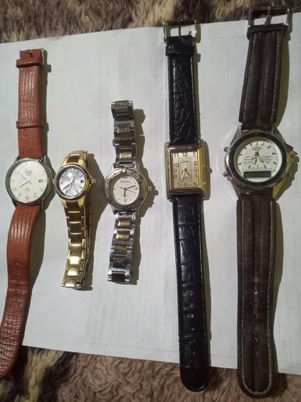 Lote 5 Relógio Funcionando Ler Anuncio