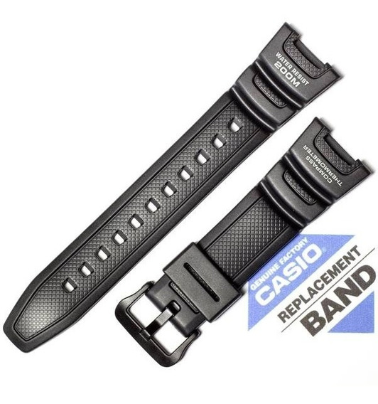 Pulseira Casio Sgw-100 Sgw-100h Resina Preta - 100% Original