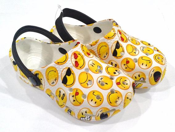 Suecos De Goma Tipo Croc Emojies Smiley Fty Calzados