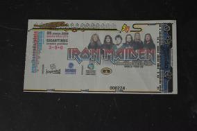 Iron Maiden 5 Março 2008 Porto Alegre Ingresso