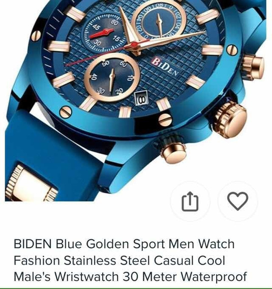 Relógio Original Biden Azul, A Prova D