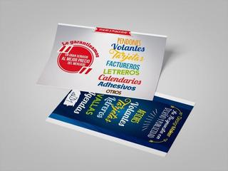 Volantes Publicitarios Full Color 1/4 Oficio Tira/retir 115g