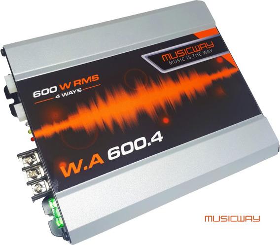 Modulo Amplificador Music Way Bx 600.4 4 Canais 600w Rms D