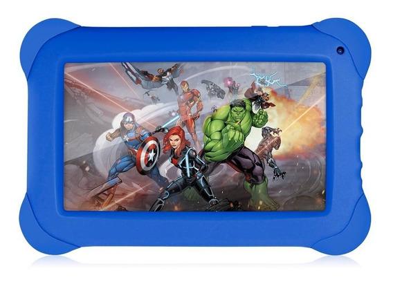 Tablet Infantil Criança Menino Multilaser Jogos Ação Azul