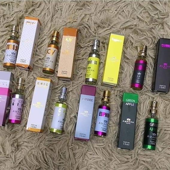 Kit C/ 10 Perfumes De Bolso Com 33% De Essência