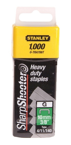 Grapa Para Engrapadora Trabajo Pesado 3/8  Tra706t Stanley