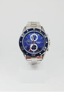 Reloj Dakot Hombre Metal Fondo Azul Relojitos Moderno +envio