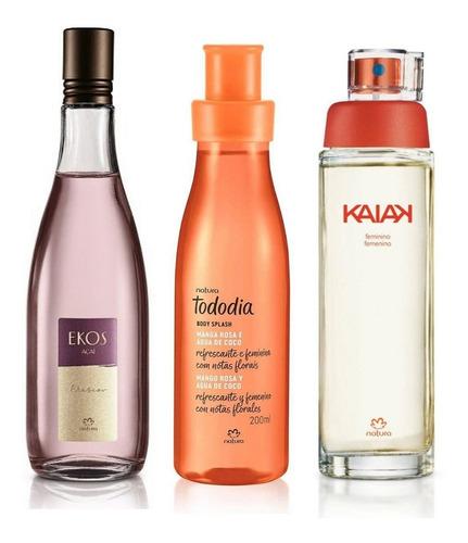 Perfume Kaiak Clásico, Ekos Acai Y Spray Mango Rosa Natura