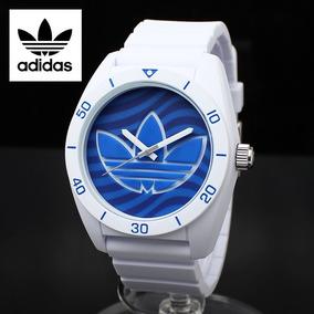 adidas Santiago Silicone Watch Adh3195 Branco Azul Original