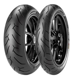 Par Pneus Pirelli Rosso 2 120 + 180 Hornet Cbr 600 Cb 650 R6