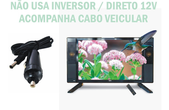 Tv Digital 17 Polegadas Conversor Led Usb Hdmi Contr/ Remoto