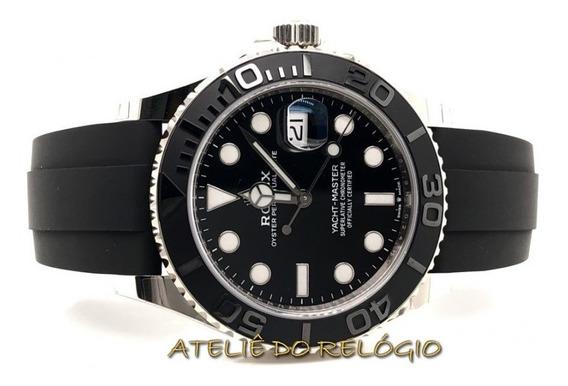Relógio Acab. Eta - Modelo Ya.cht-master Dial Preto Borracha