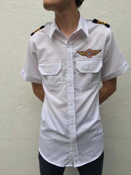Camisa Piloto Aviador, Precio Por Camisa Sin Bordar.