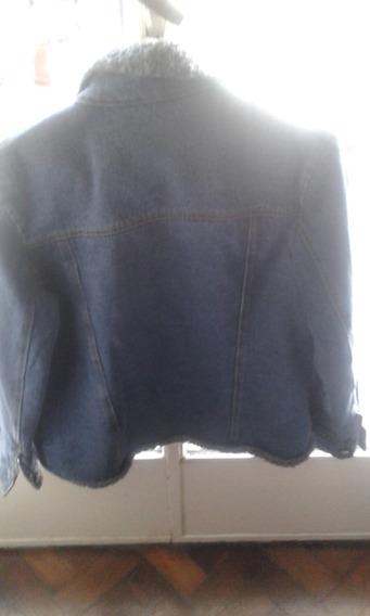 Campera De Jeans C/ Corderito. Talle S